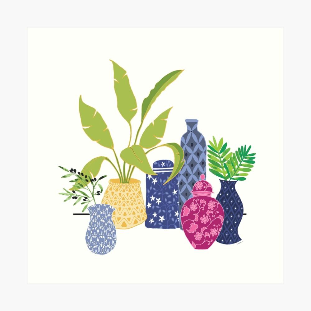 Chinoiserie Vases Art Print
