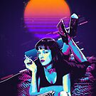 Pulp Fiction Revisited - Night Neon Mia Wallace  by Serge Averbukh