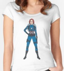 Captain Widow Women's Fitted Scoop T-Shirt