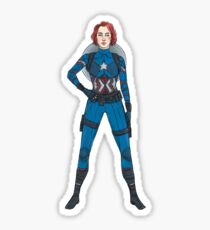 Captain Widow Sticker