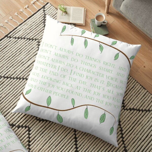 Find Joy- Merle Floor Pillow