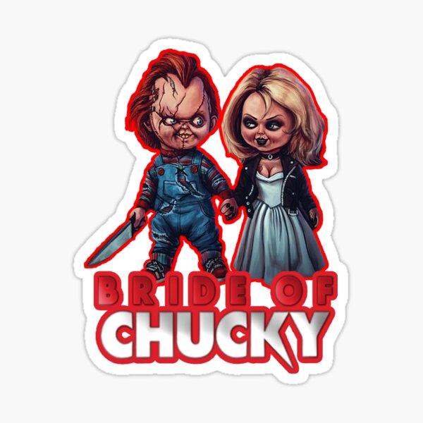 Chucky y Tiffany - La Novia de Chucky Pegatina