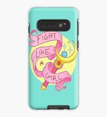 Kämpfen wie ein Mädchen Hülle & Klebefolie für Samsung Galaxy