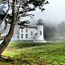 Lighthouse in the Fog Two by Rick Lawler