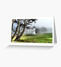 Lighthouse in the Fog Two Greeting Card
