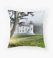 Lighthouse in the Fog Two Throw Pillow