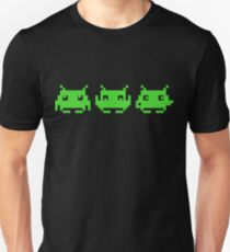 Space Invaders Green Triplets Unisex T-Shirt