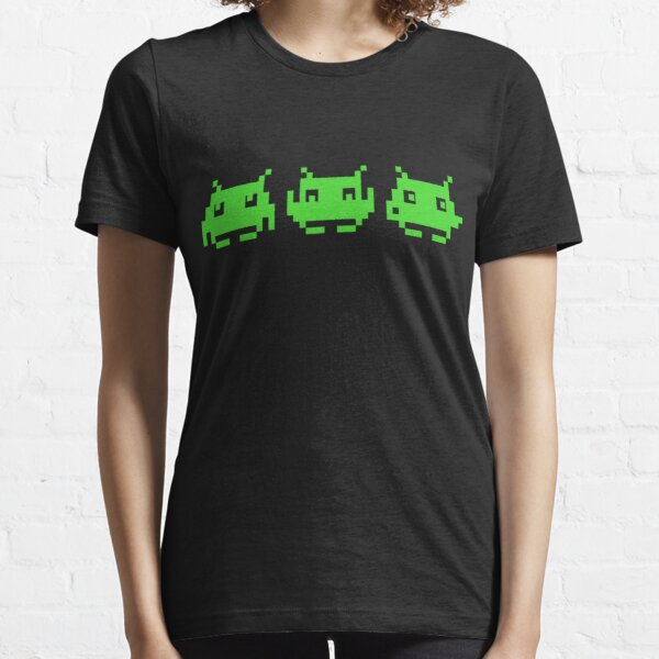 Space Invaders Green Triplets Essential T-Shirt