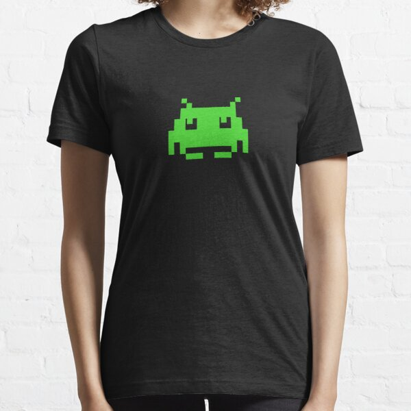 Space Invaders Green Alien T-Shirt Essential T-Shirt
