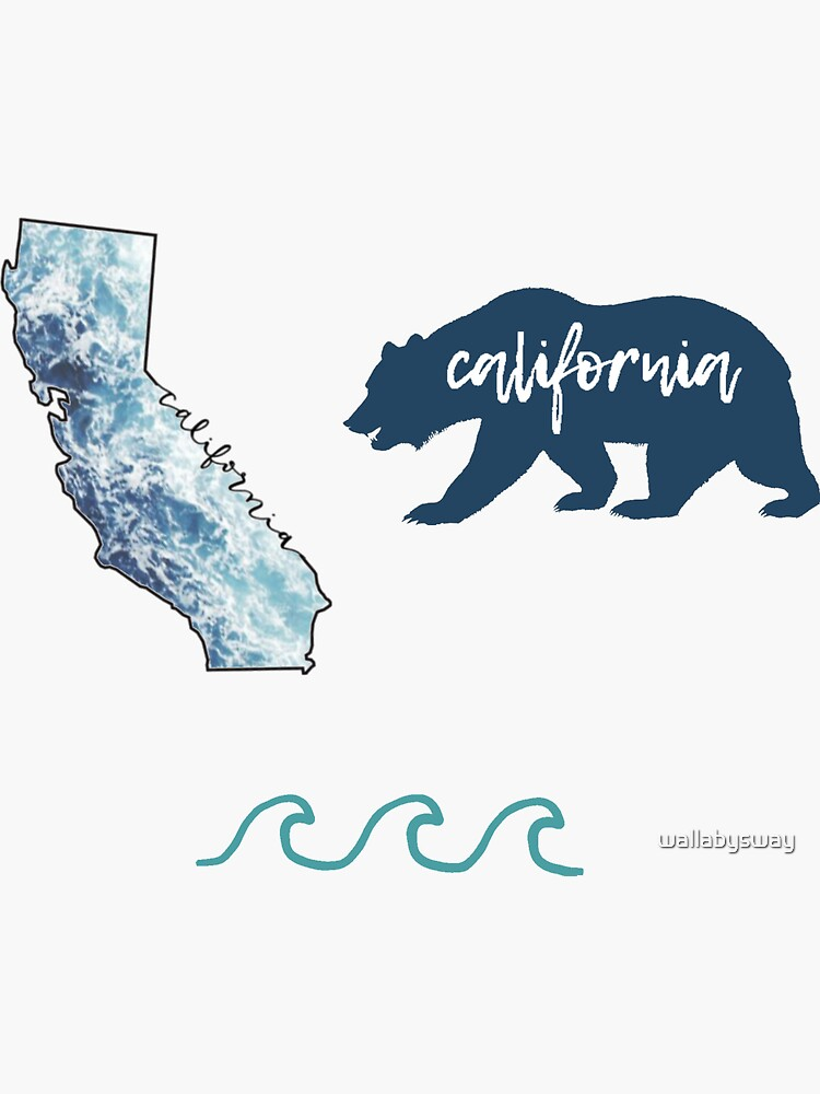 California Sticker Pack by wallabysway