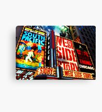Broadway, New York marque Canvas Print