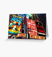 Broadway, New York marque Greeting Card