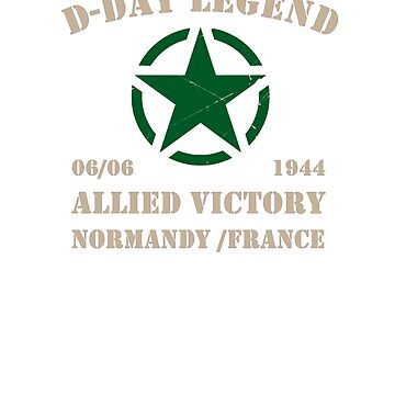 D Day Legend Allied Victory WWII Vintage by joseluizleite