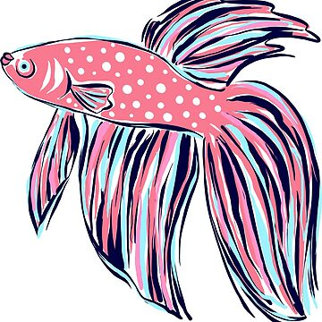 Cute Preppy Colorful Fish Illustration by JillLouise
