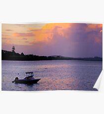Sunset over Paihia Poster