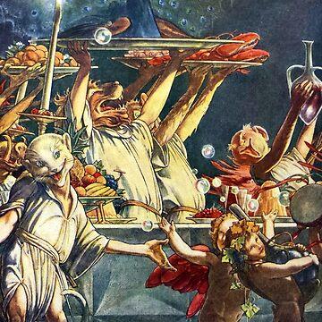 Ariel's Spirits Serve Up A Magical Banquet - Paul Woodroffe by forgottenbeauty