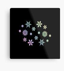 Snowflake   Winter Christmas Ski Snowboard Gift Idea Metal Print