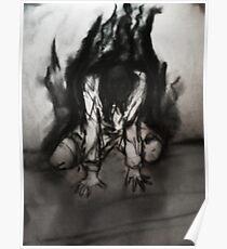 Holzkohlegedanken (Dunkelheit durchsickert) Poster