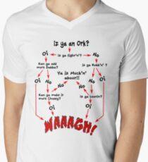 Ork-Flussdiagramm T-Shirt mit V-Ausschnitt für Männer