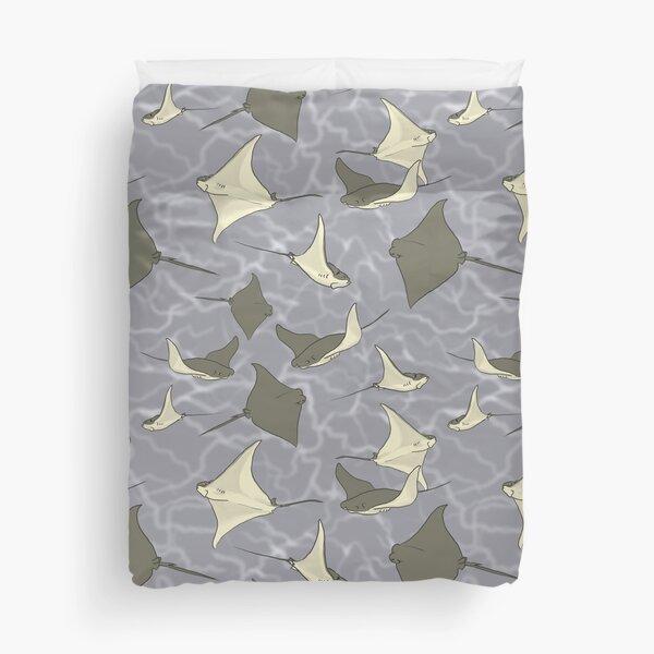 Cownose Stingray Ocean Pattern Duvet Cover