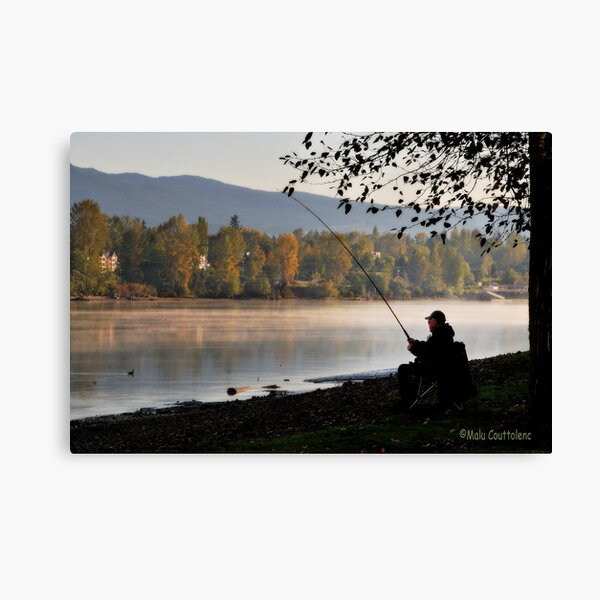 Fishing at dawn Canvas Print
