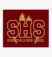 Sunnydale Highschool Photographic Print