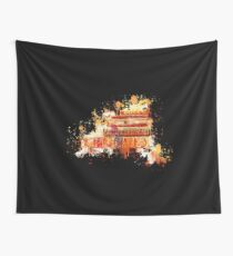 Books read literature watercolor painted Wall Tapestry
