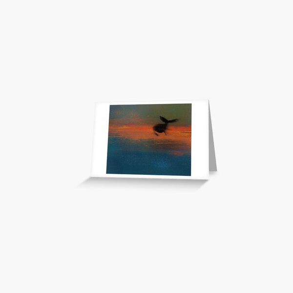 Flying Whale Greeting Card