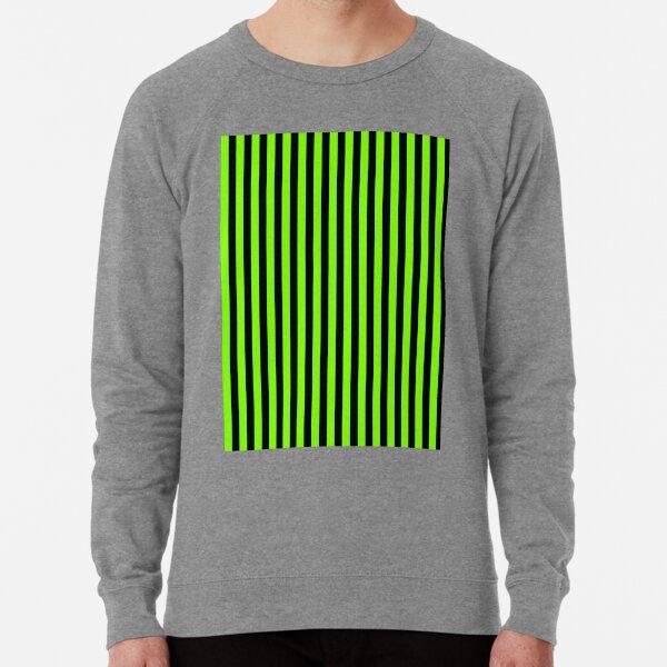 Rayures verticales vert et noir chartreuse Sweatshirt léger