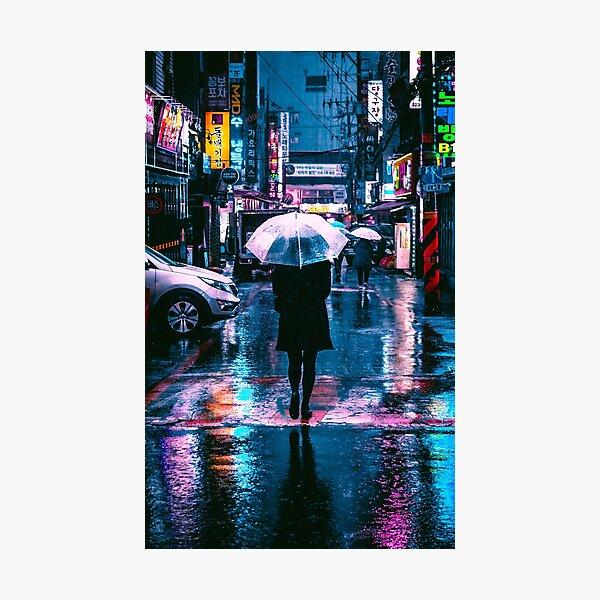 Cyberpunk Seoul Photographic Print