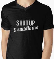 COUPLES SHIRT SHUT UP & CUDDLE ME Men's V-Neck T-Shirt