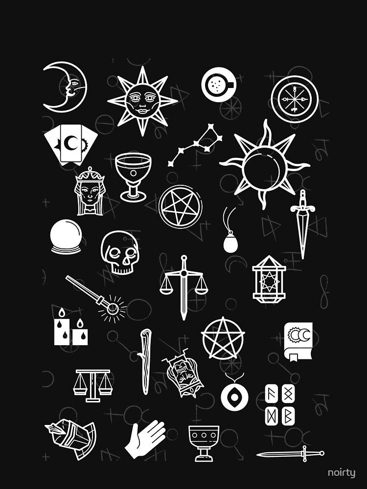 Alchemy Mystic Chaos Magic Occult Symbols T-Shirt by noirty