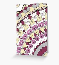Pink and yellow abstract Greeting Card