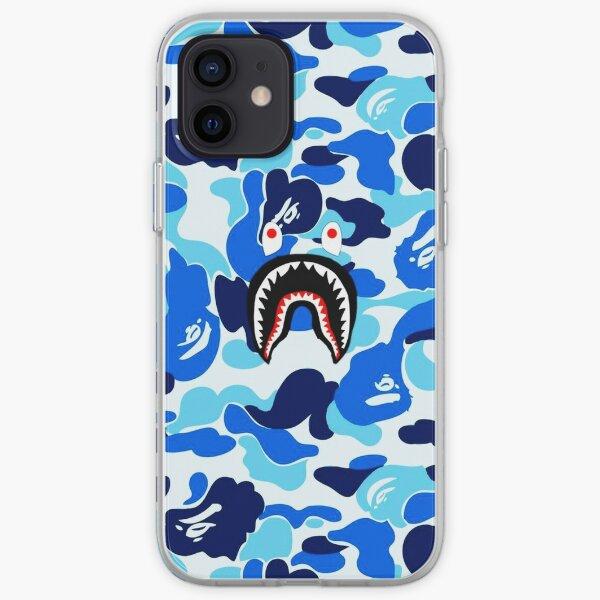 Tiburón bape azul Funda blanda para iPhone
