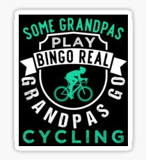 Real Grandpas Go Cycling Sticker 656157d07