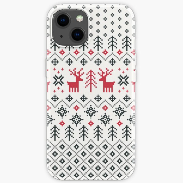 Holiday Sweater Pattern iPhone Soft Case