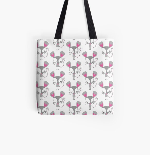 Little Mouse All Over Print Tote Bag