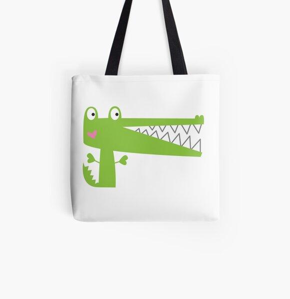 Cutie Crocodile All Over Print Tote Bag