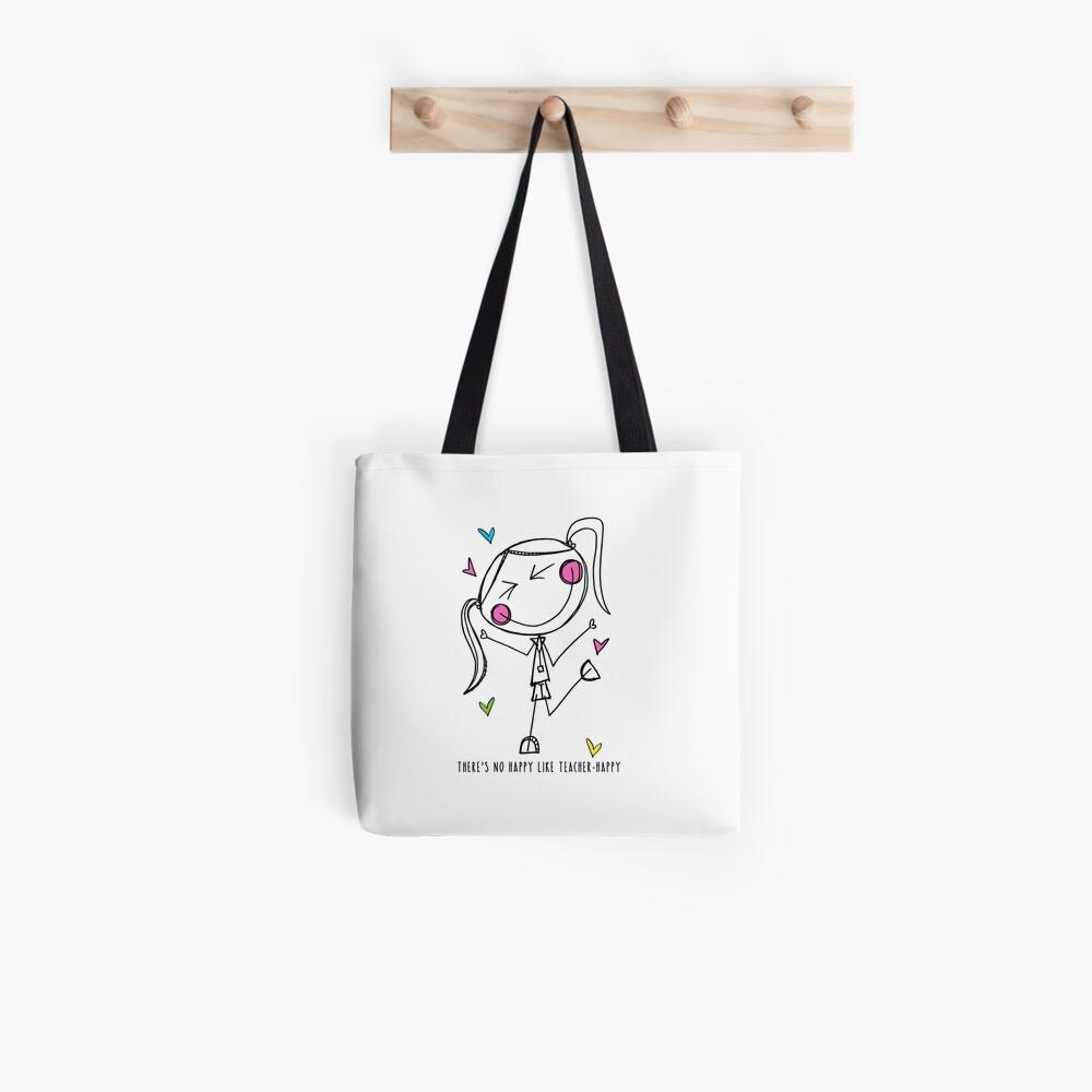 Teacher Happy Tote Bag