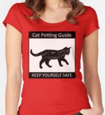 Cat Petting Guide Women's Fitted Scoop T-Shirt