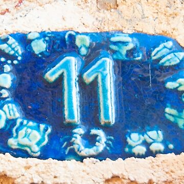 Ceramic number with the number eleven by PhotoStock-Isra