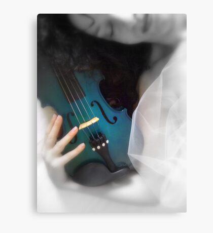 la donna con il violino blu © 2010 patricia vannucci Canvas Print