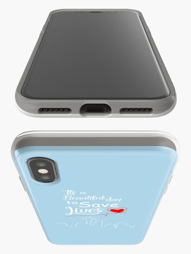 Alternative Ansicht von Es ist ein schöner Tag, um Leben zu retten iPhone-Hülle & Cover