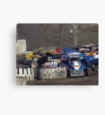 Wrecking in turn 4 Canvas Print