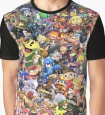 Camiseta gráfica Super Smash Bros Ultimate - Collage de personajes