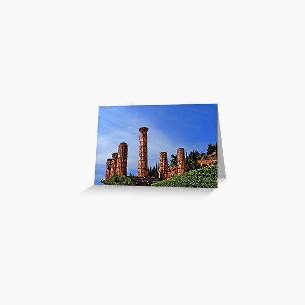 Temple of Apollo, Delphi, Greece Greeting Card