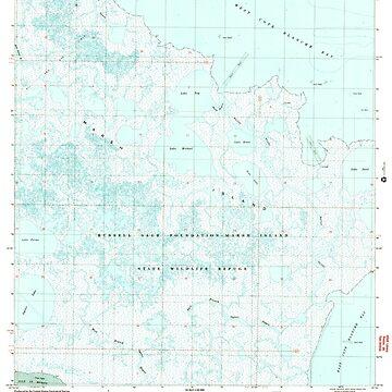 USGS TOPO Map Louisiana LA Bayou Blanc 331381 1999 24000 by wetdryvac