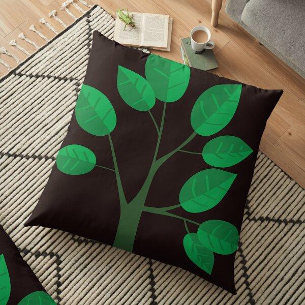 sapling young tree Floor Pillow