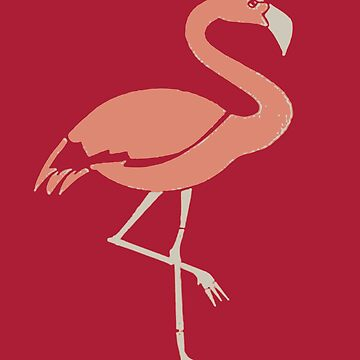 Coral Pink Flamingo by taiche