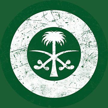 Saudi Arabia Air Force Roundel Flag by quark